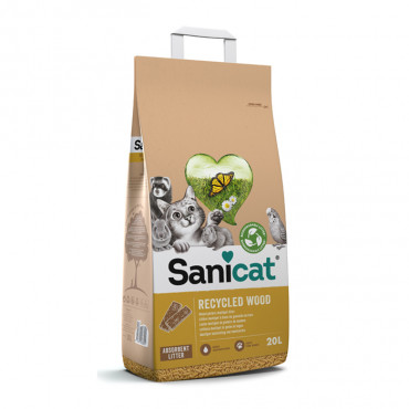Areia biodegradável Recycled Wood - Sanicat