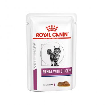 Ração para gato Royal Canin Wet Renal Chicken