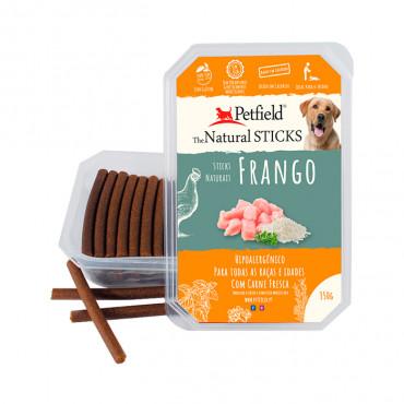 Petfield Natural Sticks para cão 350g – Frango