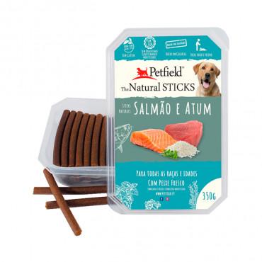 Petfield Natural Sticks para cão 350g – Salmão & Atum