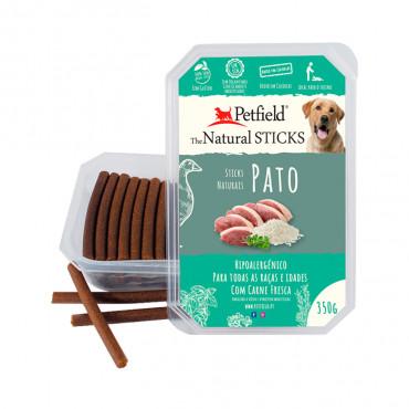 Petfield Natural Sticks para cão 350g – Pato