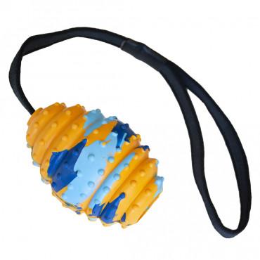 Bola de rugby borracha com corda para cães - Duvo+