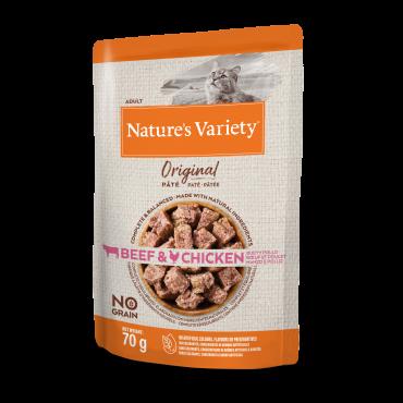 Nature's Variety Original Sem Cereais Húmido Gato Adulto - Vaca & Frango