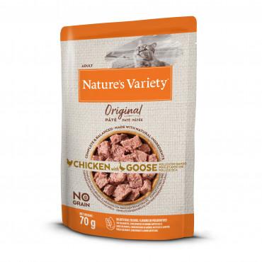 Nature's Variety Original Sem Cereais Húmido Gato Adulto - Frango & Ganso
