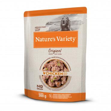 Nature's Variety Original Sem Cereais Húmido Cão Adulto Médio - Frango