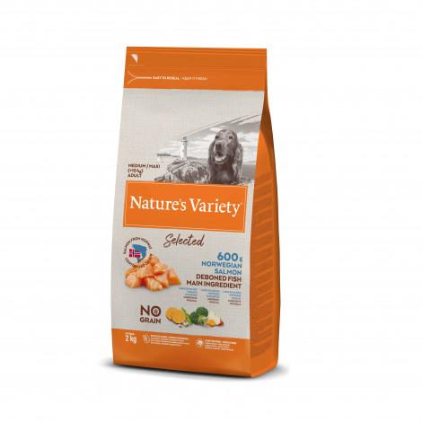 Nature's Variety Selected No grain Cão Medium/maxi adulto - Salmão