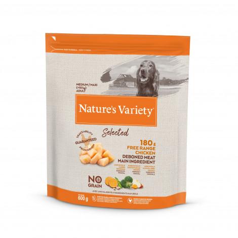 Nature's Variety Selected No grain Cão Medium/maxi adulto - Frango