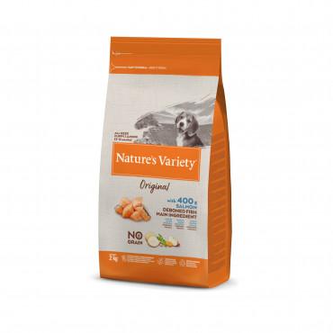 Nature's Variety Original Sem Cereais Cão Junior - Salmão