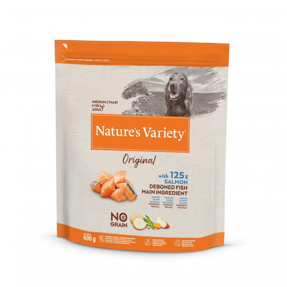 Nature's Variety Original Sem Cereais Cão Adulto Médio - Salmão