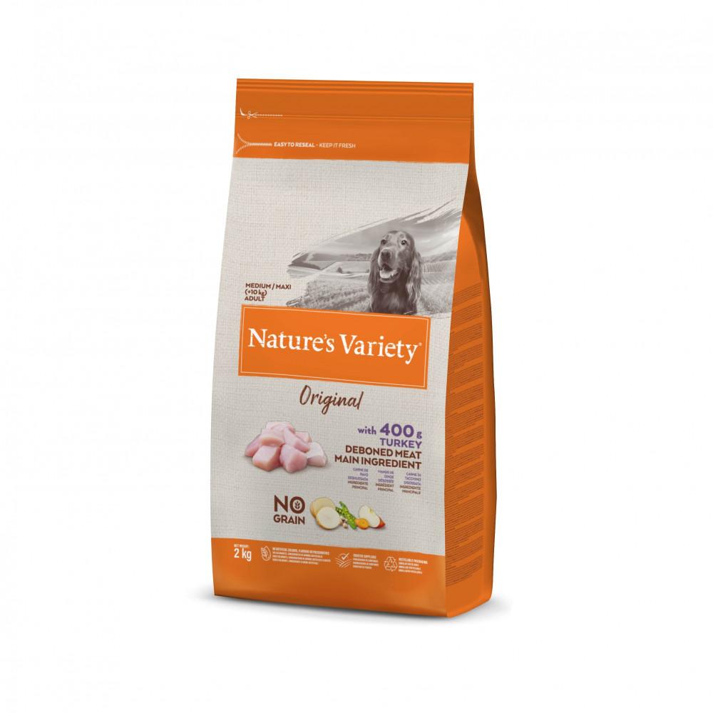 Nature's Variety Original Sem Cereais Cão Adulto Médio - Peru