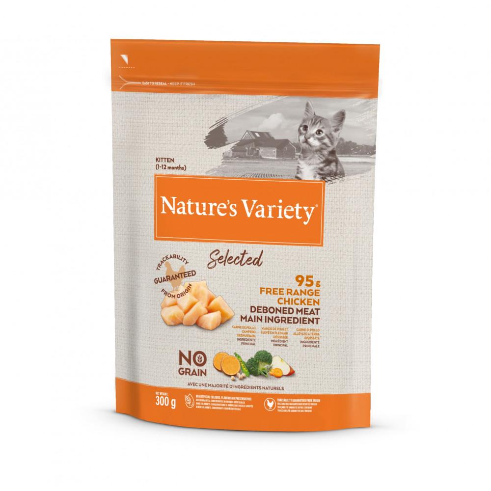 Nature's Variety Selected Sem Cereais Kitten - Frango