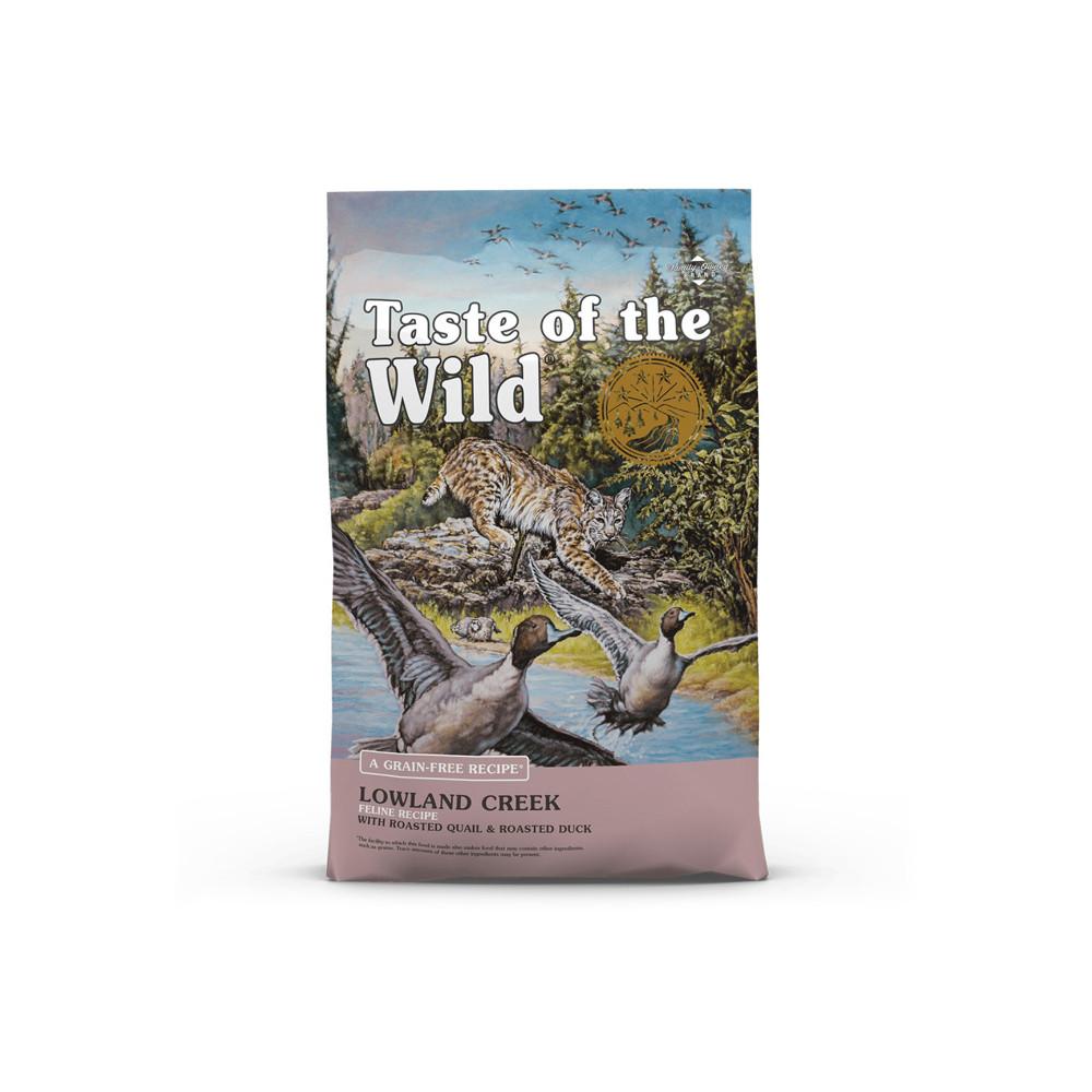 Taste of the Wild Lowland Creek Gato adulto - Codorniz e pato
