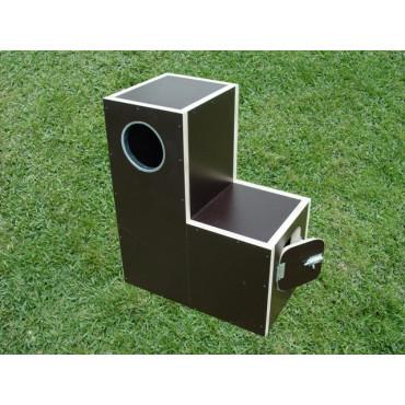 Ninho de Papagaio Cinzento - 60x49x29 Cm c/Reforço