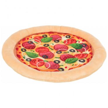 Pizza de peluche com ruído