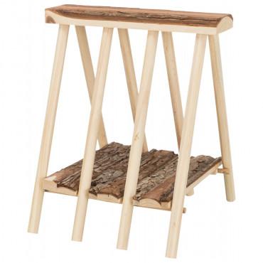 Porta feno em madeira natural