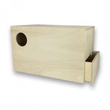 Ninho em madeira para lories modelo 1