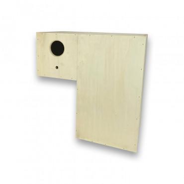 Ninho em madeira para lories modelo 2