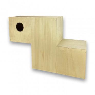 Ninho em madeira para lories modelo 3