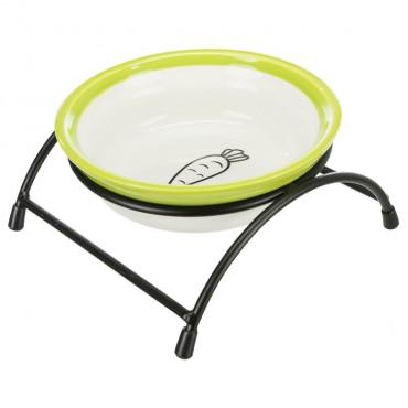 Taça cerâmica com suporte para gatos