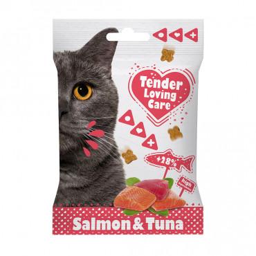 Duvo+ Soft Snacks de salmão e atum para gato