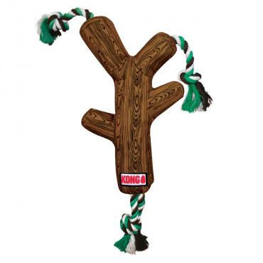Tronco de tecido com corda para cães - KONG FetchStix
