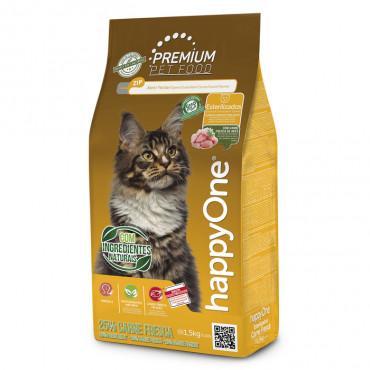 happyOne Premium Gato esterilizado - Carne de aves