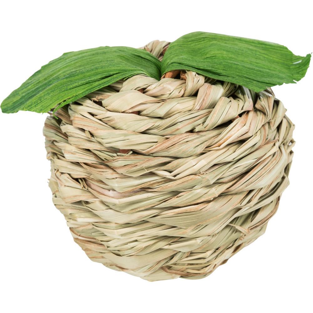 Maçã em palha com casca de milho
