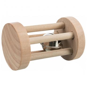 Rolo em madeira com guizo