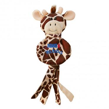 Girafa de tecido com som - KONG Wubba No Stuff