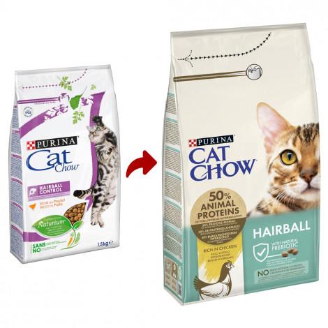 Cat Chow Hairball Control Gato adulto - Frango