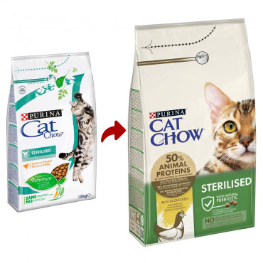 Cat Chow Sterilised Gato adulto - Frango