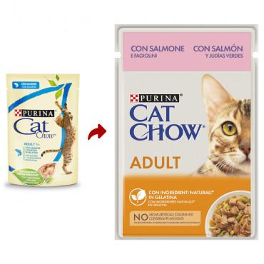 Cat Chow Gato Adulto Salmão e feijão verde em molho