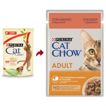 Cat Chow Gato Adulto Carne de Vaca em molho