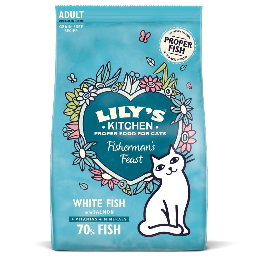 Lily's Kitchen Gato adulto - Peixe branco e salmão