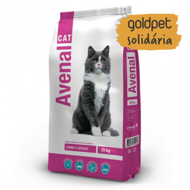 Goldpet Solidária - Avenal Gato adulto - Carne