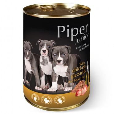 Piper Dog - Junior c/ Frango e Arroz Integral 400gr