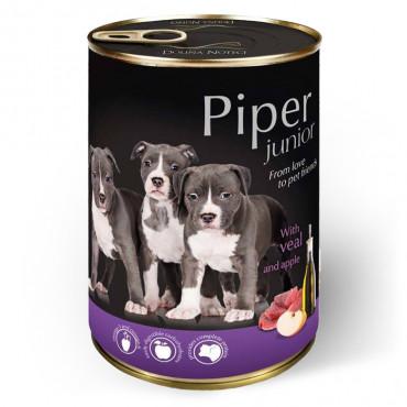 Piper Dog - Junior c/ Vitela e Maçã 400gr