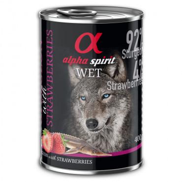 Alpha Spirit Wetfood - Esturjão e Morango 400gr