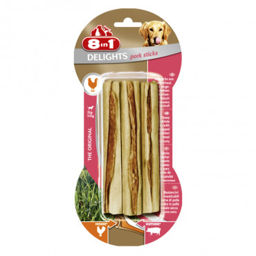 8in1 Delights Sticks com carne de frango e porco