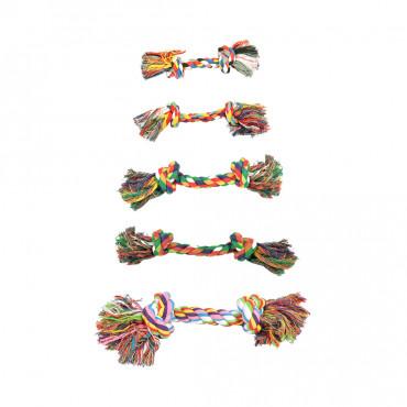Corda multicolor com 2 nós para cães - Duvo+