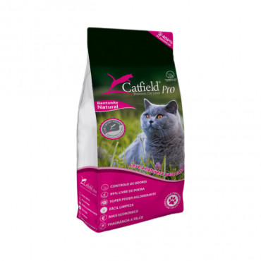 Areia de talco para gato - Catfield Pro