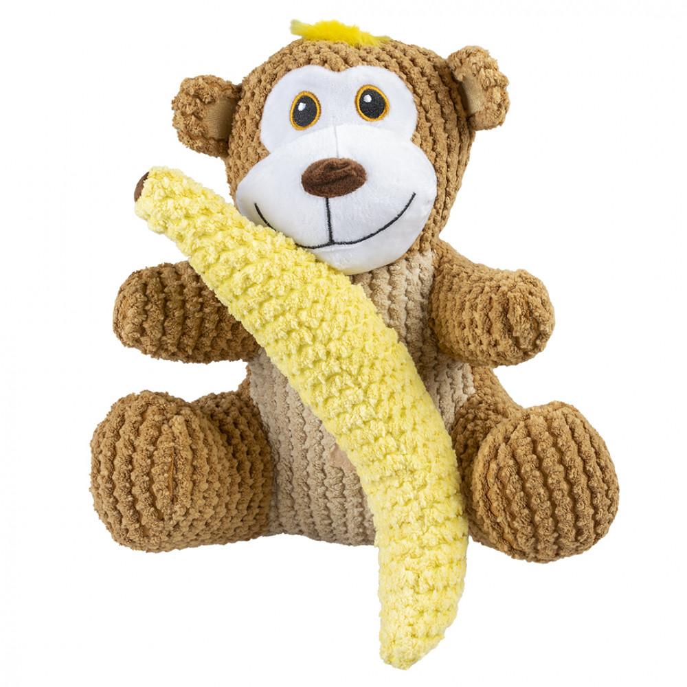 Macaco com banana de peluche para cães - Duvo+