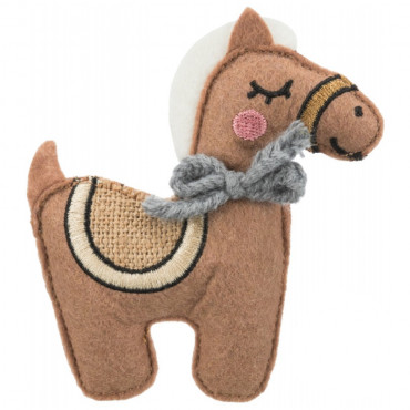 Cavalo em tecido/juta com catnip - Trixie