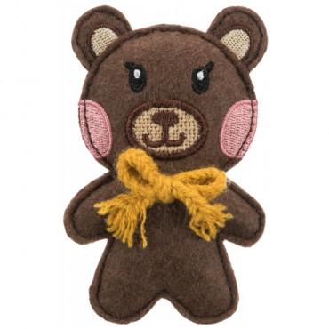 Urso em tecido/juta com catnip - Trixie