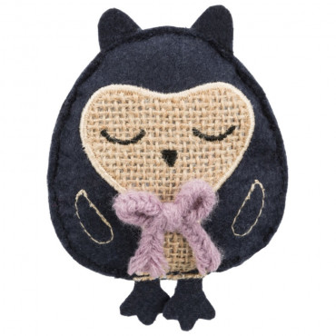 Coruja em tecido/juta com catnip - Trixie