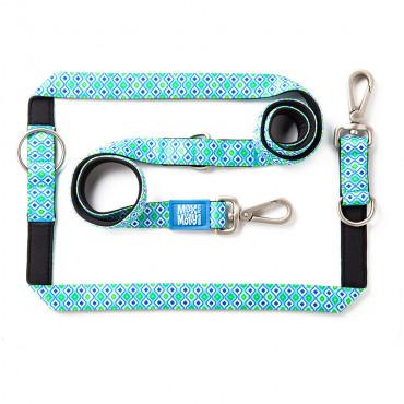 Trela ajustável Retro Blue para cão - Max & Molly