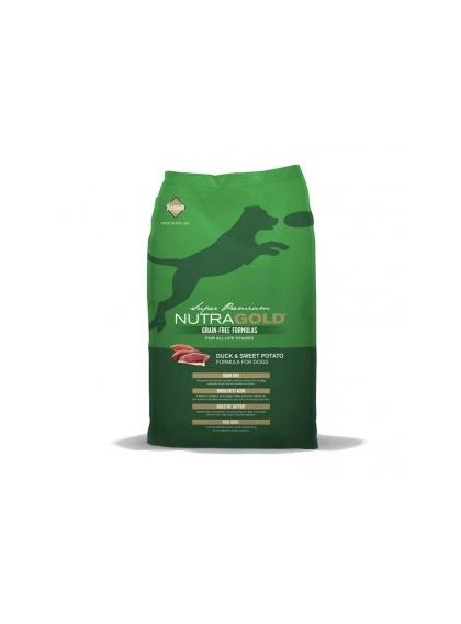 NutraGold Grain Free Pato & Batata doce 13,6Kg